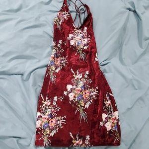 Hello Molly velvet mini dress size small